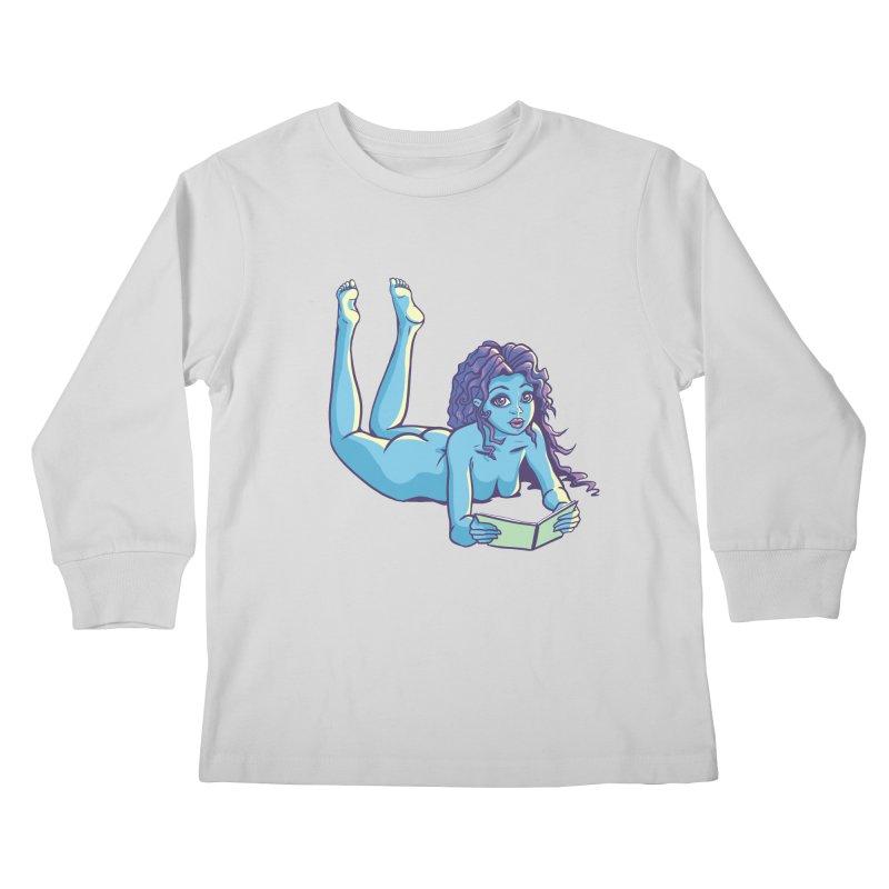 Lady Tou Kids Longsleeve T-Shirt by kingakorska's Artist Shop