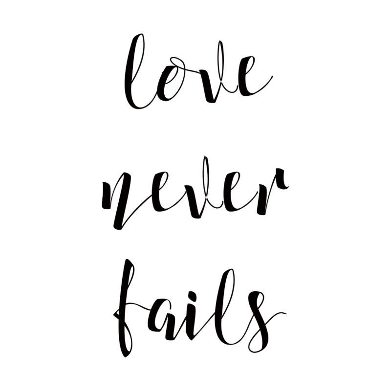 Love never fails  Women's Triblend T-shirt by kingdomatheart's Shop