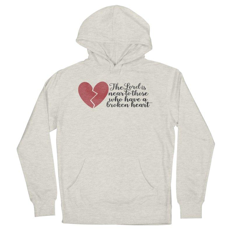 Broken Heart Men's French Terry Pullover Hoody by Kingdomatheart