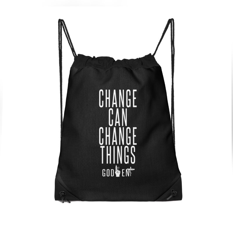 Change Can Change Things Accessories Bag by King James's Artist Shop