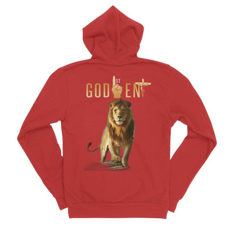 Lion Tee Women's Zip-Up Hoody by King James's Artist Shop