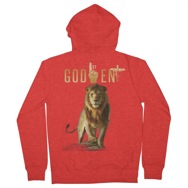 Lion Tee Women's Zip-Up Hoody by King James's Artist Shop
