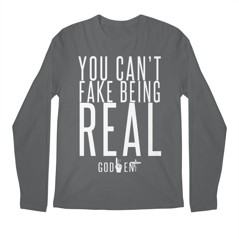 YOU CAN'T FAKE BEING REAL   KING JAMES TEE Men's Longsleeve T-Shirt by King James's Artist Shop