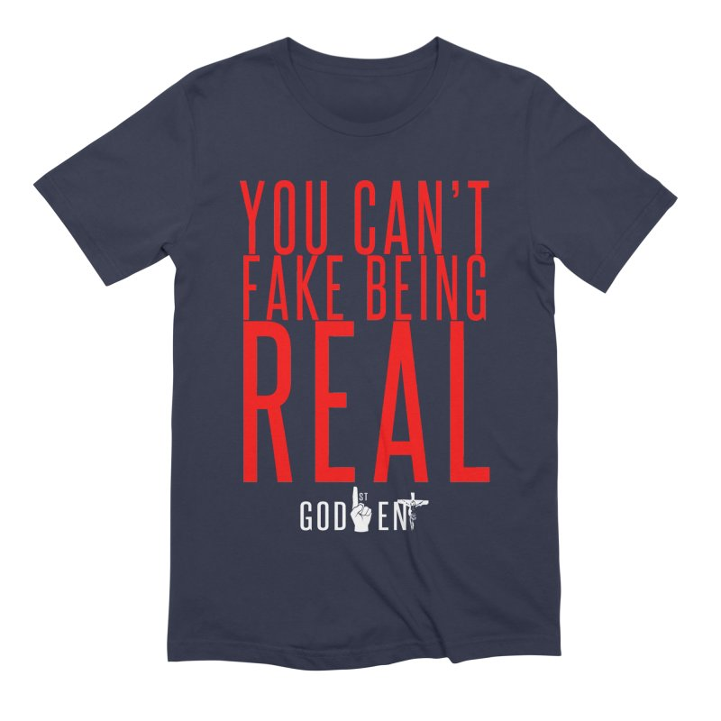 YOU CAN'T FAKE BEING REAL | KING JAMES TEE Men's T-Shirt by King James's Artist Shop