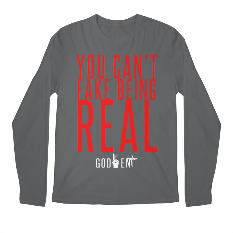 YOU CAN'T FAKE BEING REAL | KING JAMES TEE Men's Longsleeve T-Shirt by King James's Artist Shop