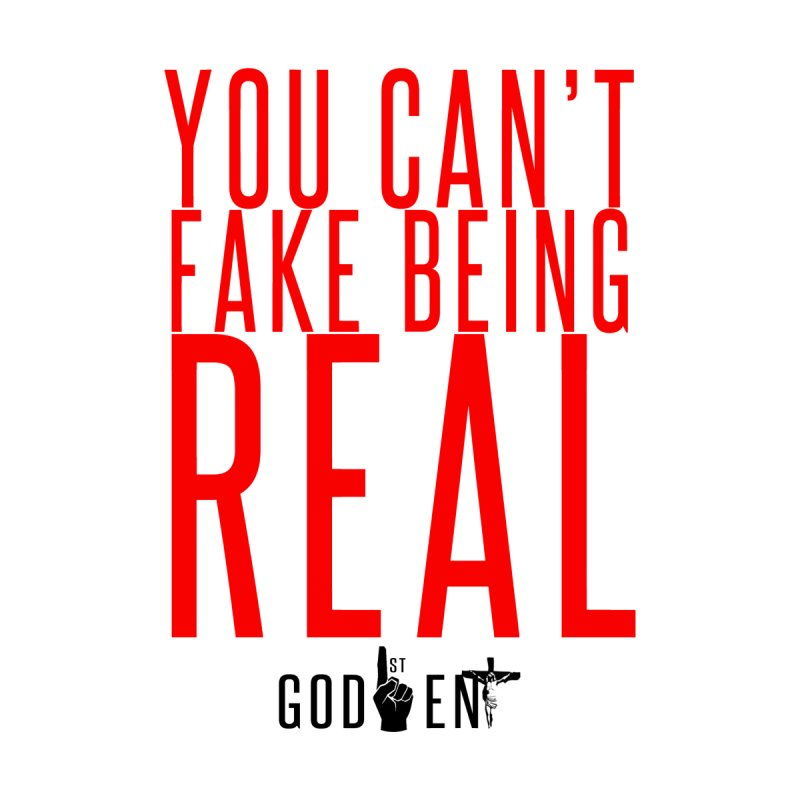 YOU CAN'T FAKE BEING REAL | KING JAMES TEE | WHITE Accessories Bag by King James's Artist Shop