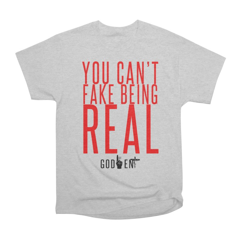 YOU CAN'T FAKE BEING REAL | KING JAMES TEE | WHITE Men's T-Shirt by King James's Artist Shop