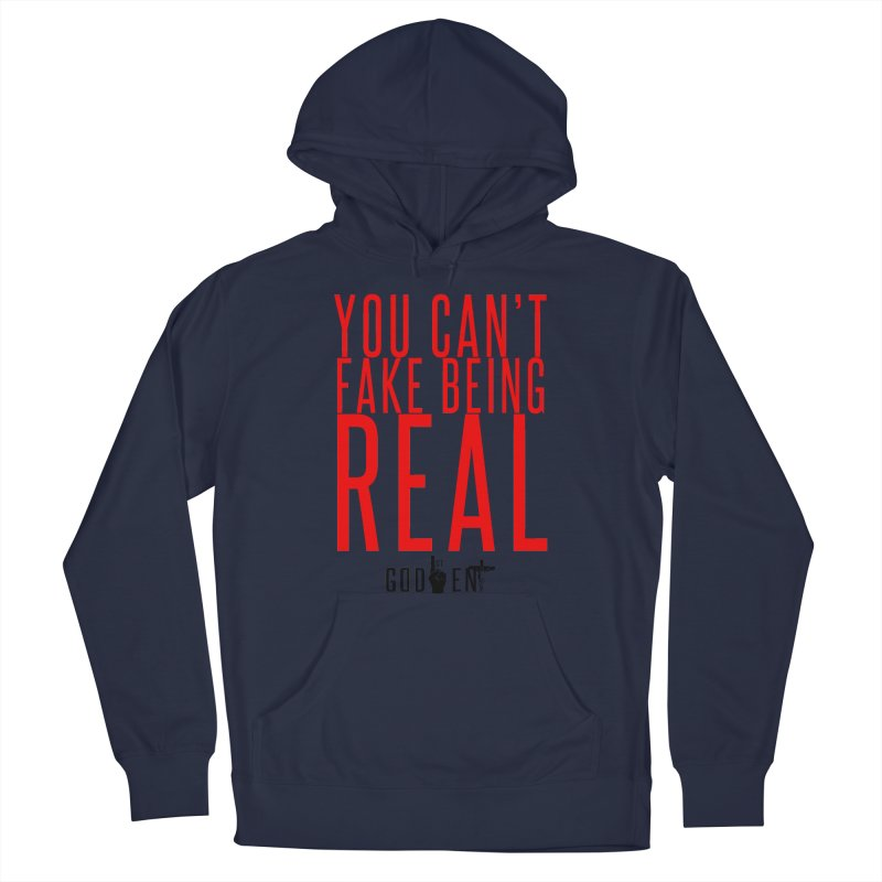 YOU CAN'T FAKE BEING REAL | KING JAMES TEE | WHITE Men's Pullover Hoody by King James's Artist Shop