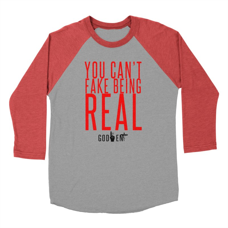 YOU CAN'T FAKE BEING REAL   KING JAMES TEE   WHITE Men's Longsleeve T-Shirt by King James's Artist Shop