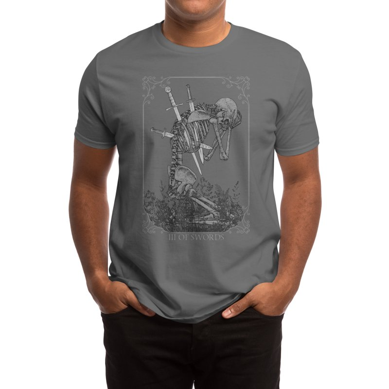 three of swords Men's T-Shirt by kingnamu