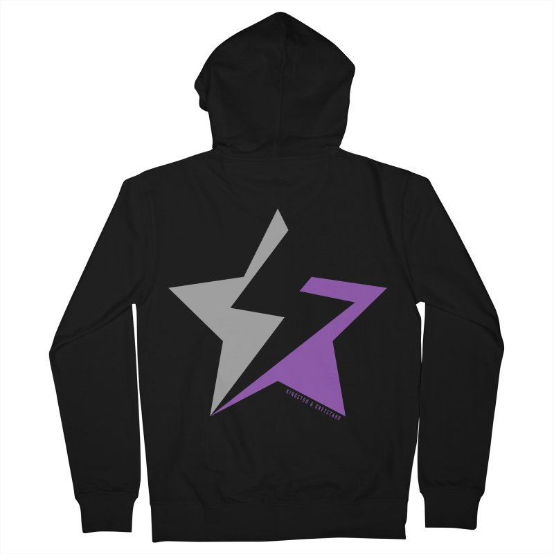 StarrBolt Collection Men's Zip-Up Hoody by kingstonandgreystarr's Artist Shop