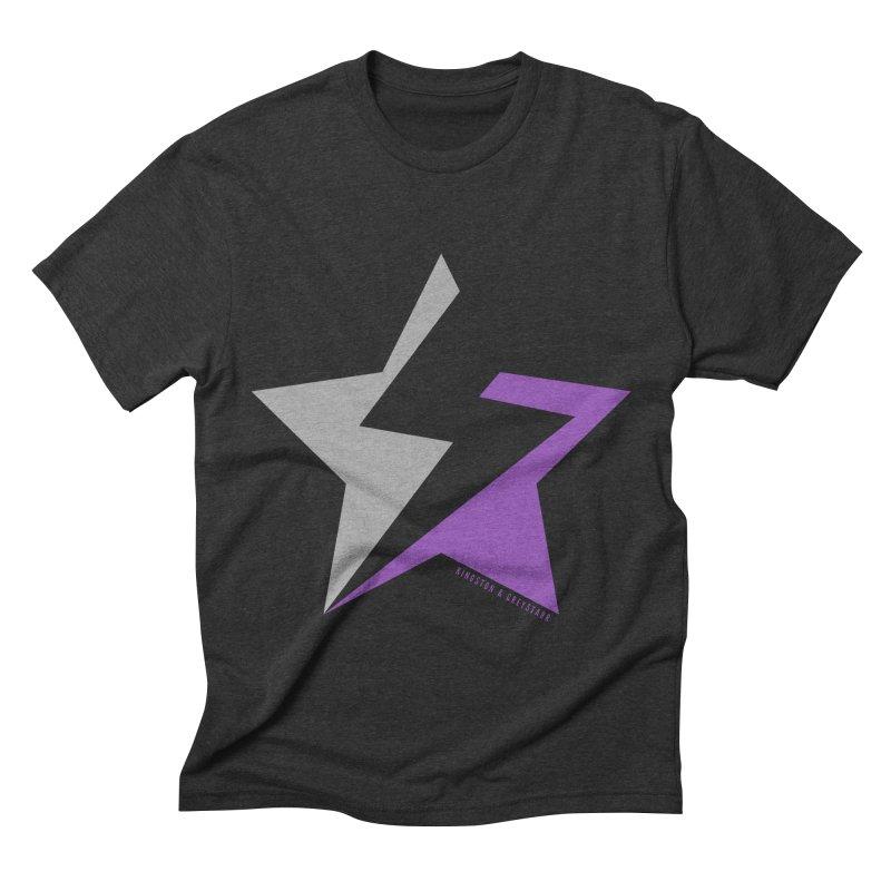 StarrBolt Collection Men's Triblend T-Shirt by kingstonandgreystarr's Artist Shop