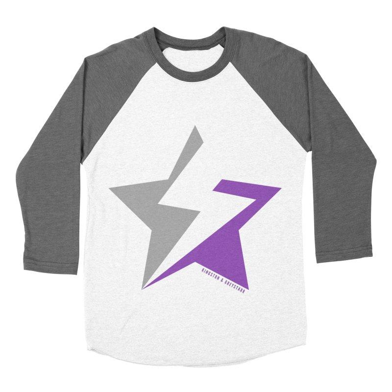 StarrBolt Collection Men's Baseball Triblend Longsleeve T-Shirt by kingstonandgreystarr's Artist Shop