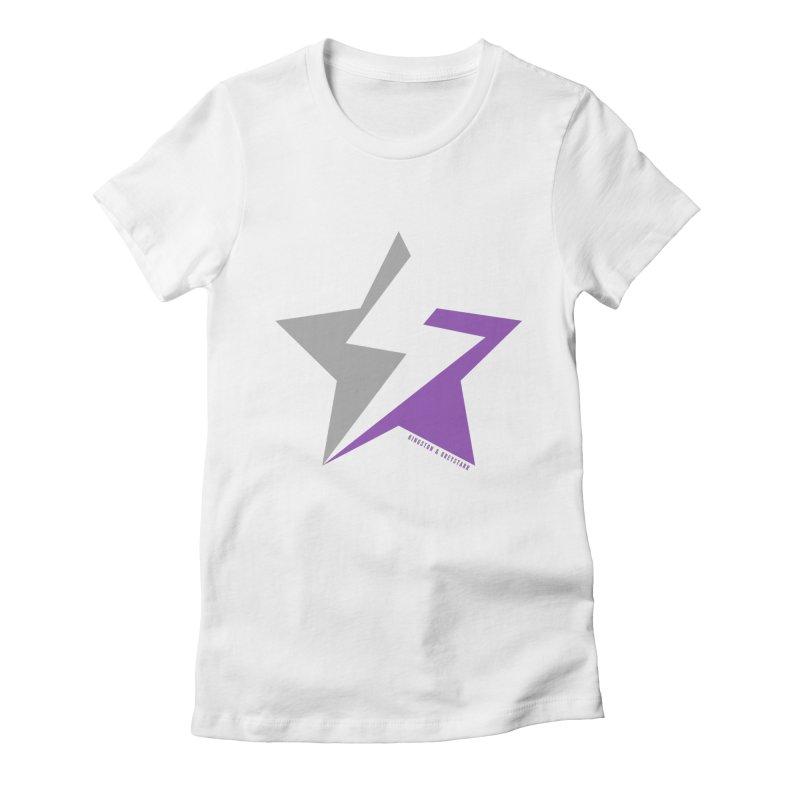 StarrBolt Collection Women's Fitted T-Shirt by kingstonandgreystarr's Artist Shop