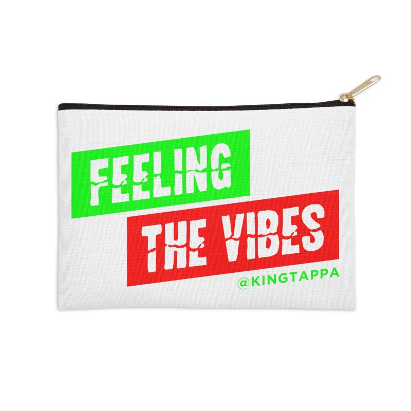 FEELING THE VIBES LOUD Accessories Zip Pouch by King Tappa  Artist Shop