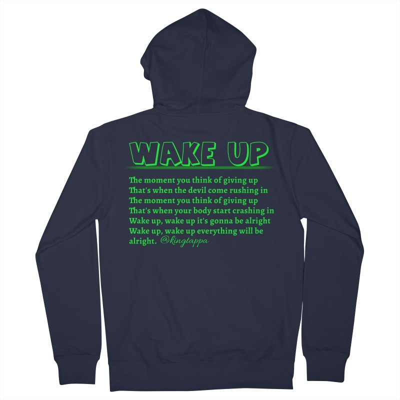 Wake Up Women's Zip-Up Hoody by King Tappa  Artist Shop