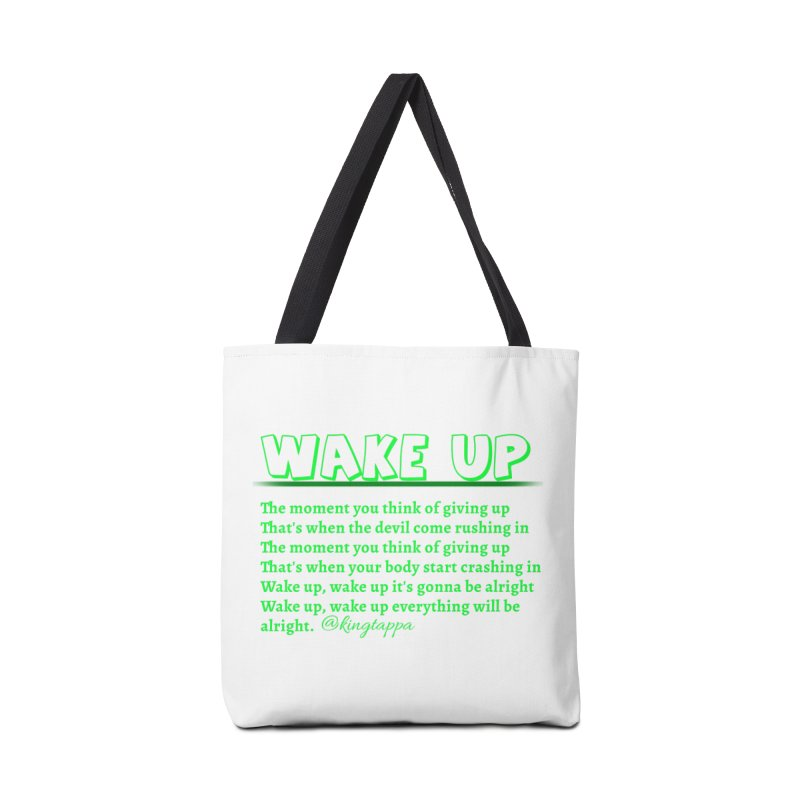 Wake Up Accessories Bag by King Tappa  Artist Shop