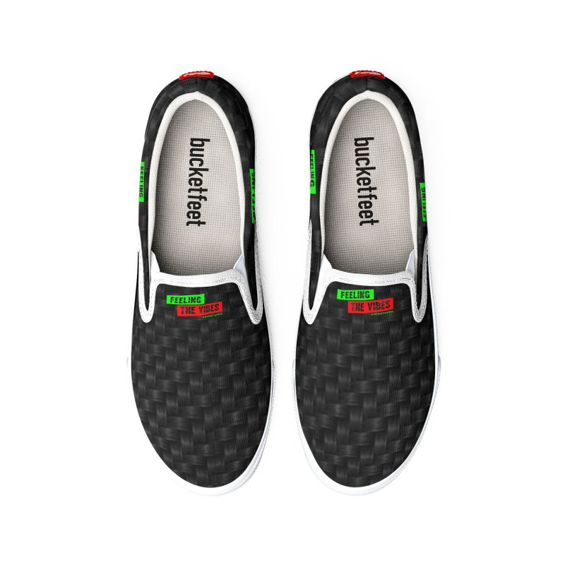 Vibes Black Men's Shoes by King Tappa  Artist Shop