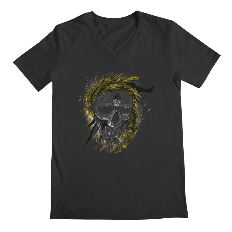 Dead Hipster Men's V-Neck by kinkimena
