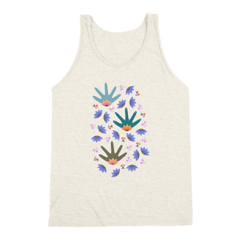 Spring Breeze Men's Triblend Tank by Kira Seiler