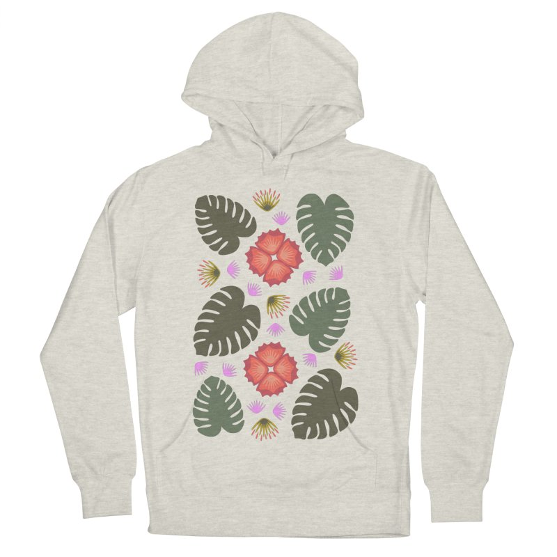 Tropical Leaves Men's Pullover Hoody by Kira Seiler