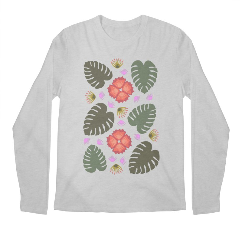 Tropical Leaves Men's Longsleeve T-Shirt by Kira Seiler