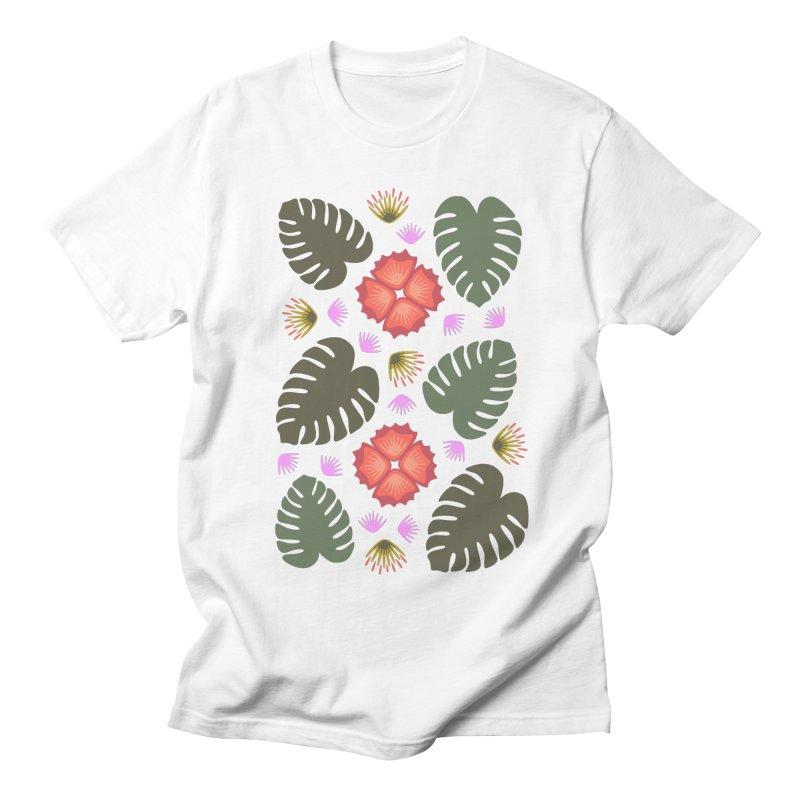 Tropical Leaves Men's T-shirt by Kira Seiler