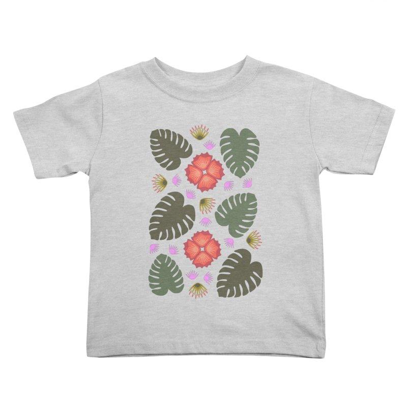 Tropical Leaves Kids Toddler T-Shirt by Kira Seiler