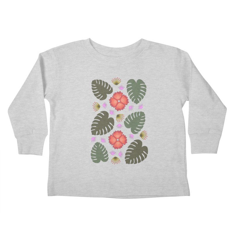 Tropical Leaves Kids Toddler Longsleeve T-Shirt by Kira Seiler