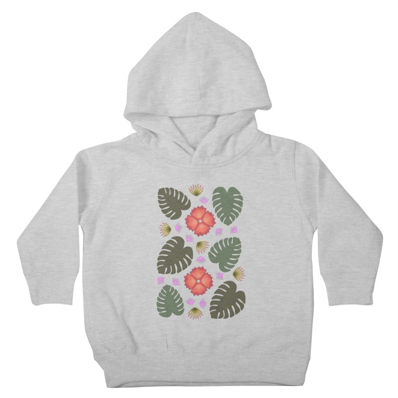 Tropical Leaves Kids Toddler Pullover Hoody by Kira Seiler
