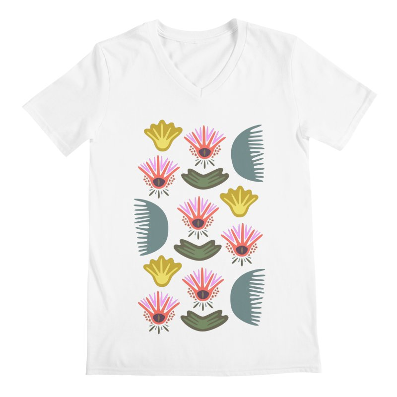Water Lily Men's V-Neck by Kira Seiler