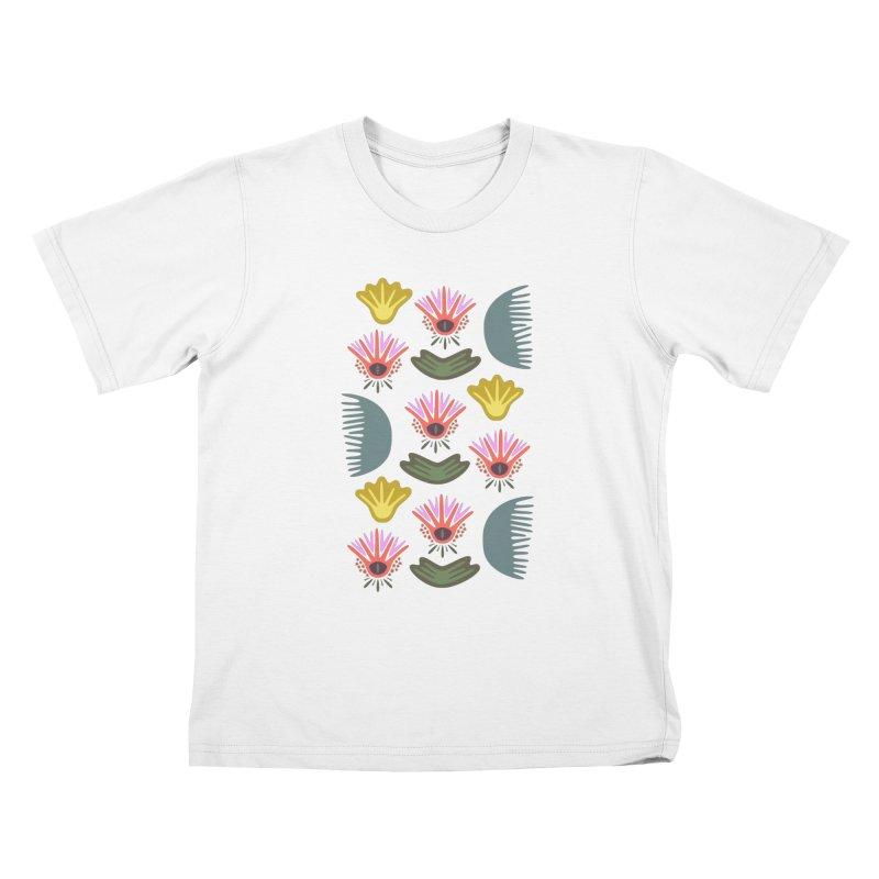 Water Lily Kids T-shirt by Kira Seiler