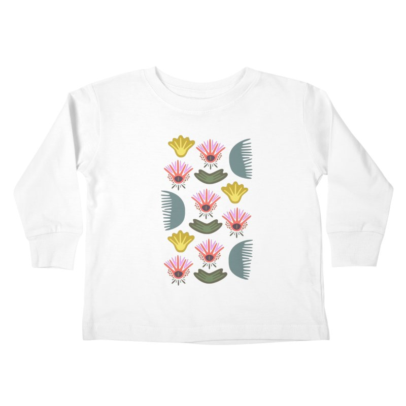 Water Lily Kids Toddler Longsleeve T-Shirt by Kira Seiler