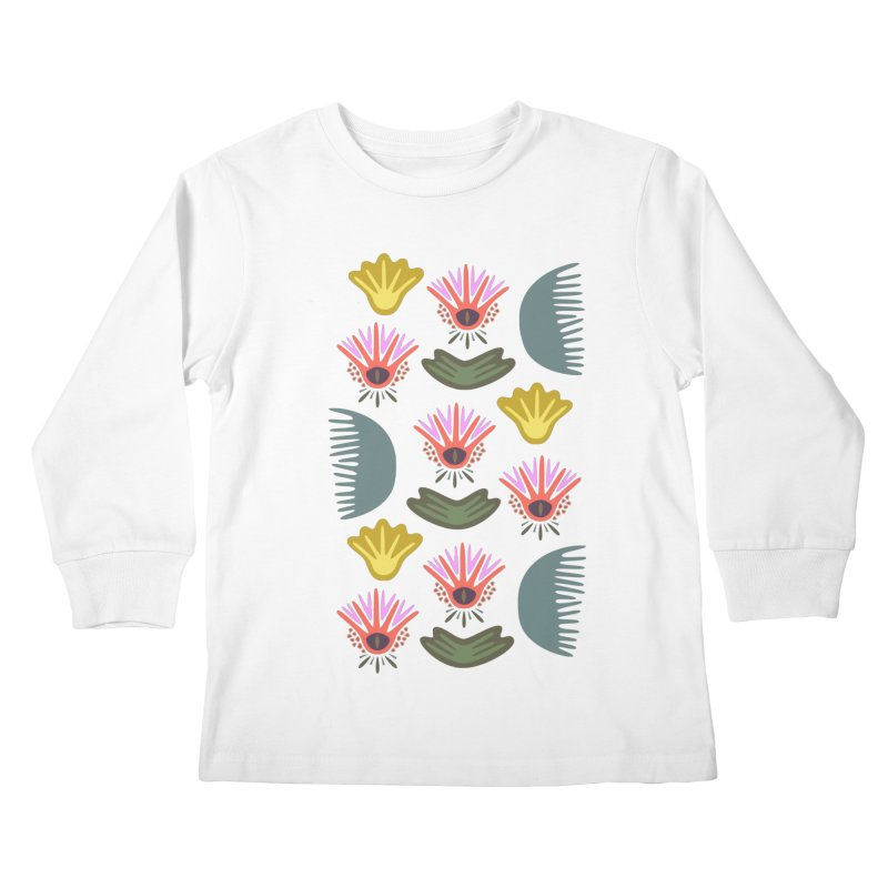 Water Lily Kids Longsleeve T-Shirt by Kira Seiler