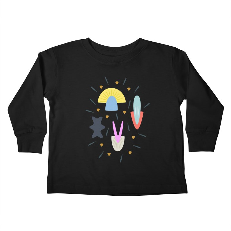 Happy Shroom dark Kids Toddler Longsleeve T-Shirt by Kira Seiler