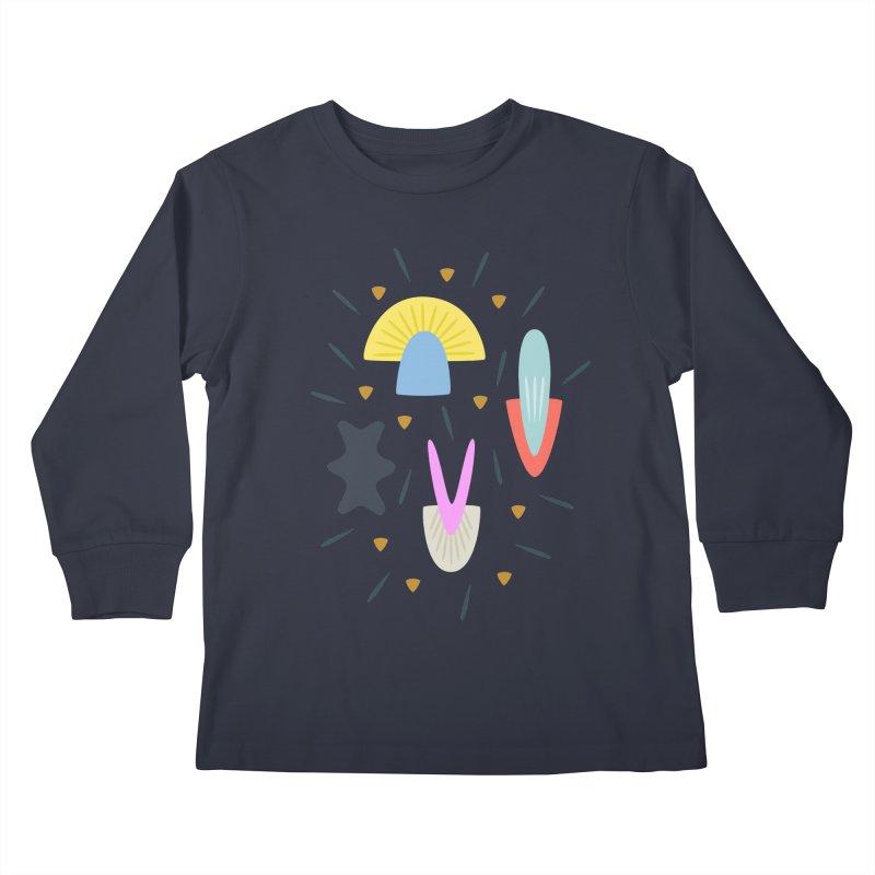 Happy Shroom dark Kids Longsleeve T-Shirt by Kira Seiler