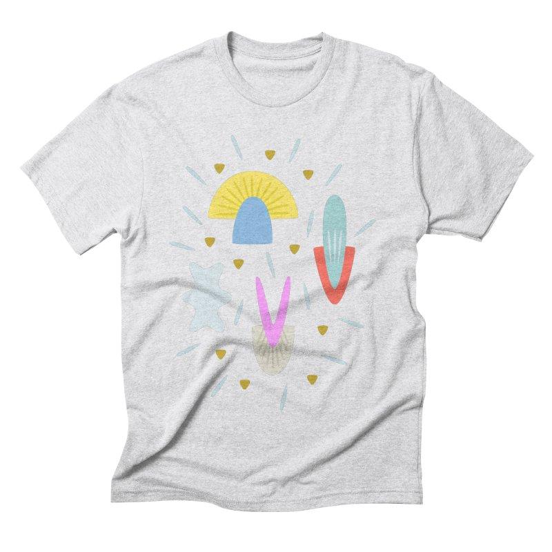 Happy Shroom light Men's Triblend T-shirt by Kira Seiler