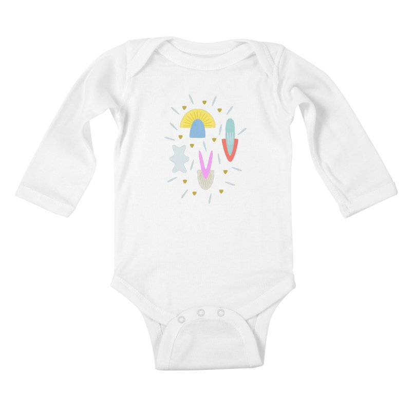 Happy Shroom light Kids Baby Longsleeve Bodysuit by Kira Seiler