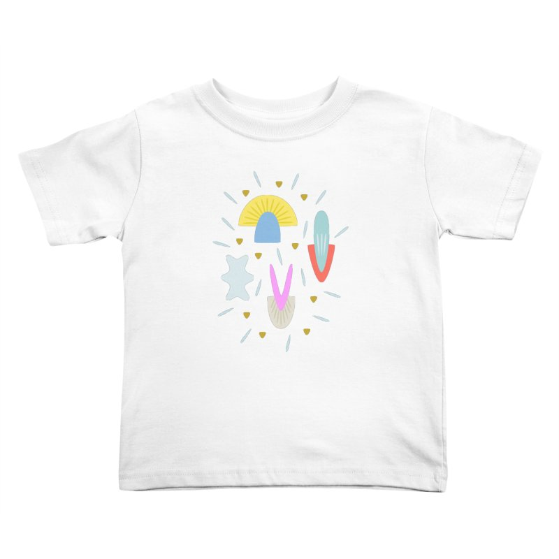 Happy Shroom light Kids Toddler T-Shirt by Kira Seiler