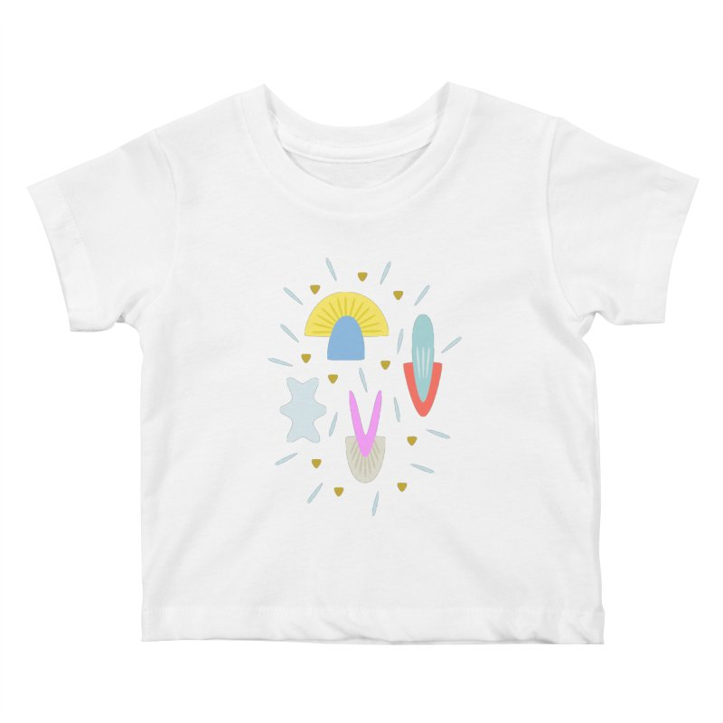 Happy Shroom light Kids Baby T-Shirt by Kira Seiler