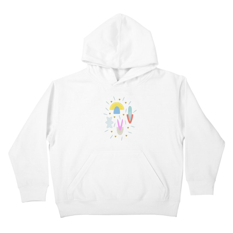 Happy Shroom light Kids Pullover Hoody by Kira Seiler