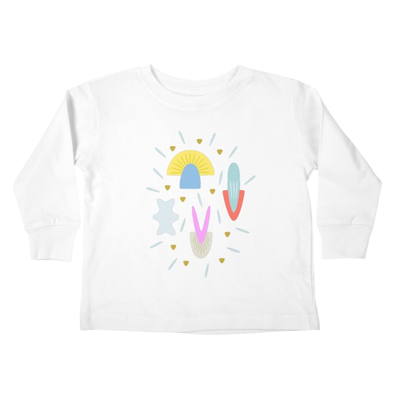 Happy Shroom light Kids Toddler Longsleeve T-Shirt by Kira Seiler