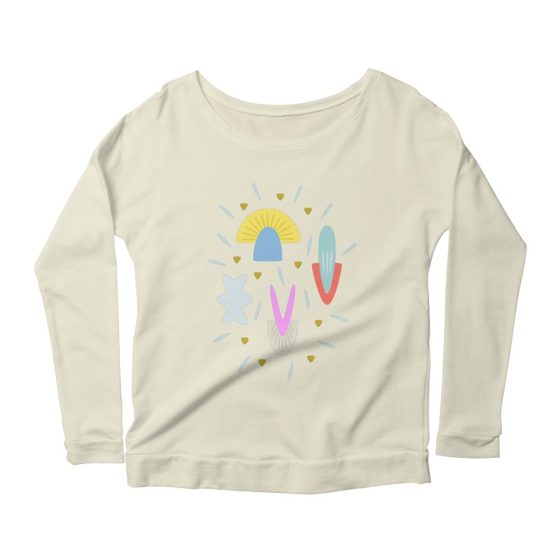 Happy Shroom light Women's Longsleeve Scoopneck  by Kira Seiler