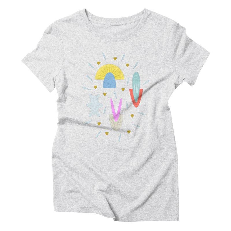 Happy Shroom light Women's Triblend T-shirt by Kira Seiler