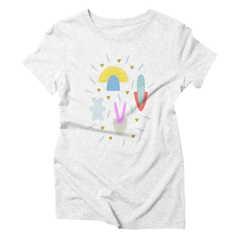 Happy Shroom light Women's Triblend T-shirt by Kira Seiler