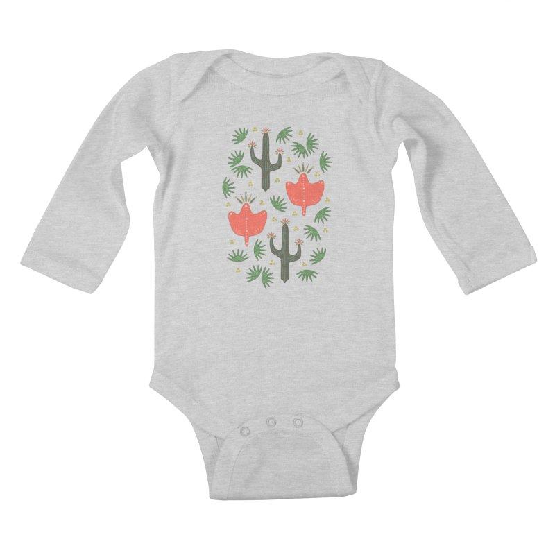 Mexican Spring Kids Baby Longsleeve Bodysuit by Kira Seiler