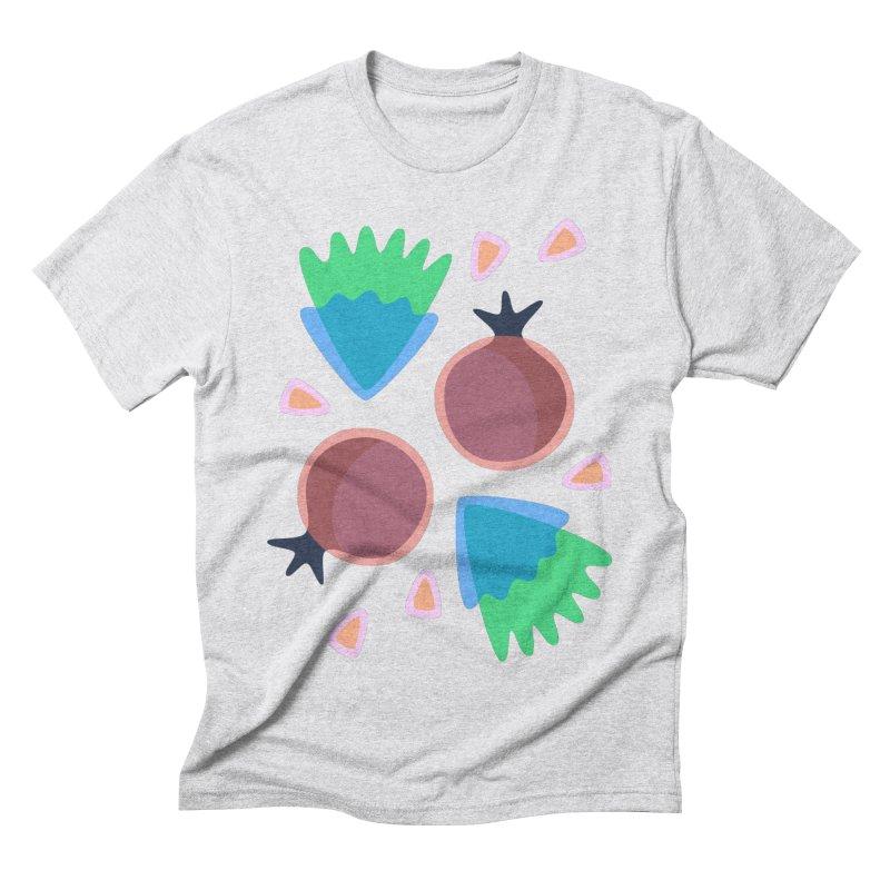 Pomegranate Men's Triblend T-shirt by Kira Seiler