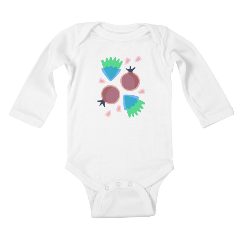 Pomegranate Kids Baby Longsleeve Bodysuit by Kira Seiler