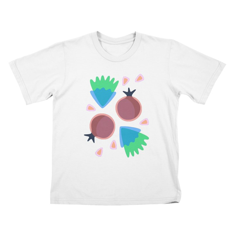 Pomegranate Kids T-Shirt by Kira Seiler