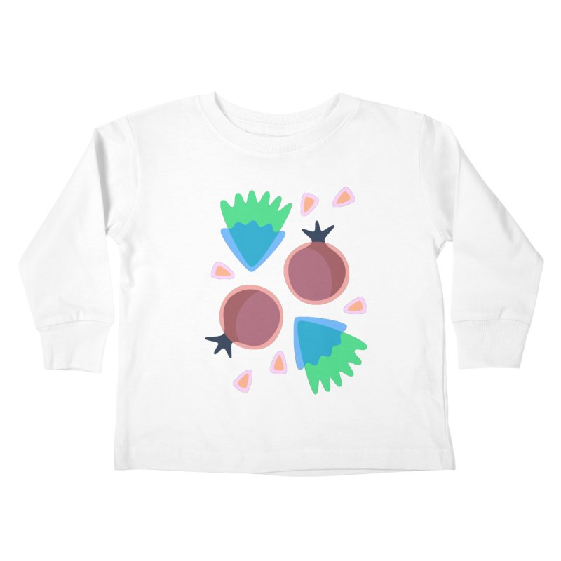 Pomegranate Kids Toddler Longsleeve T-Shirt by Kira Seiler
